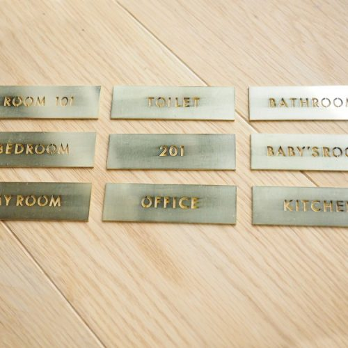 真鍮製 ROOM TAG