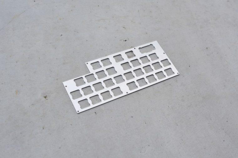 自作キーボード アルミBkeyboard-almi-B